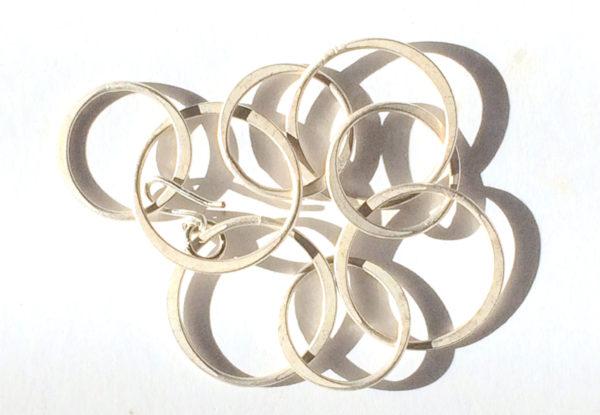 Bracelet - nickel finish steel chain