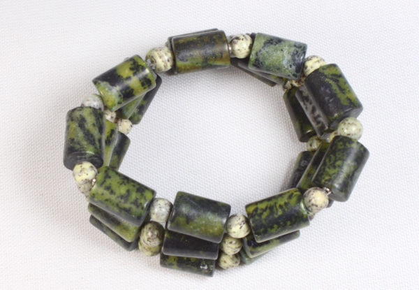 Bracelet - moss green dyed turquoise