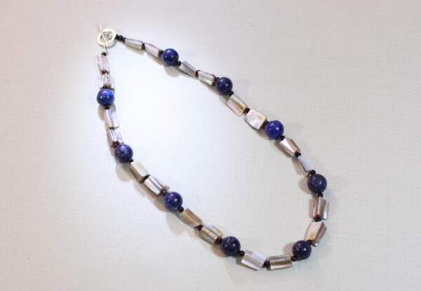 Necklace - lapis lazuli & mother-of-pearl