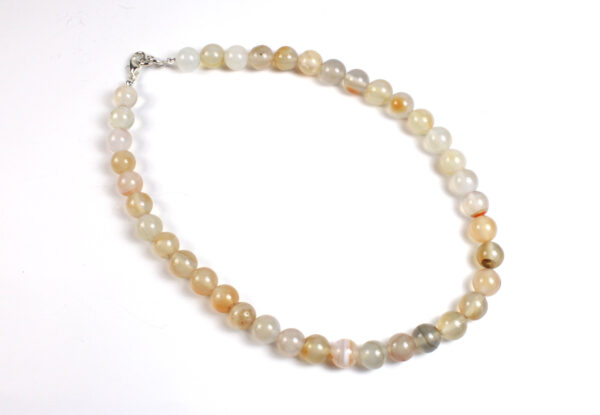 Necklace - agate in pale shades