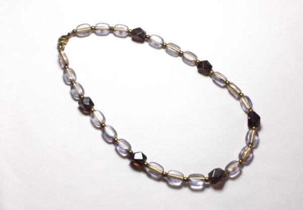 Necklace bracelet, blue-purple gold acrylic