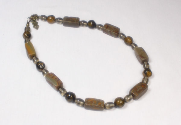 Necklace - chrysanthemum stone & acrylic