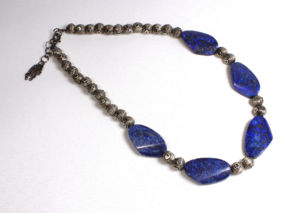 Necklace - lapis lazuli antique silver