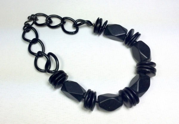Necklace - blackstone & large chain