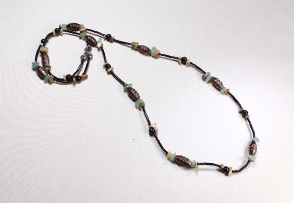 Necklace - copper, aventurine & jasper chips