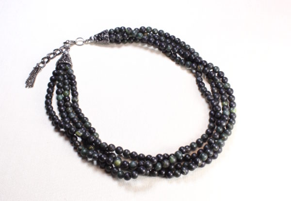 Necklace - multi-strand green serpentine