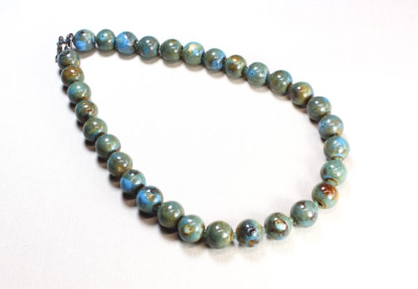 Necklace - blue/green porcelain & fluorite
