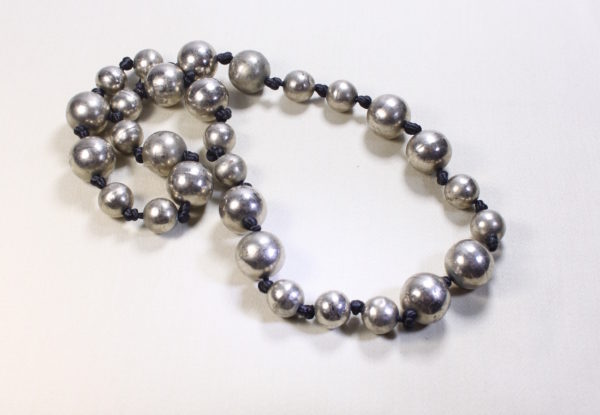 Long Necklace antique Tibetan silver beads