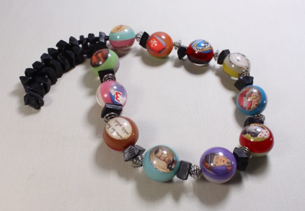 Necklace - vintage French pop art acrylic beads