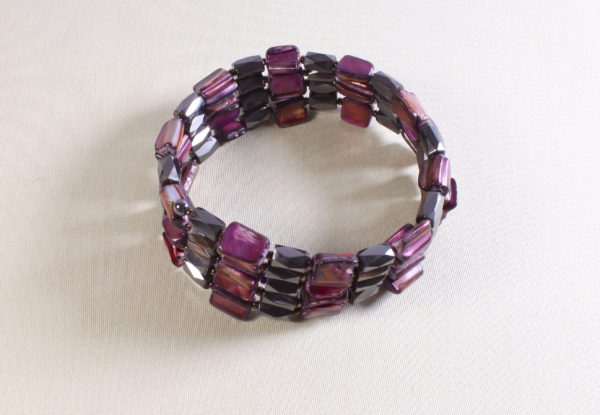 Hematite MoP necklace choker bracelet