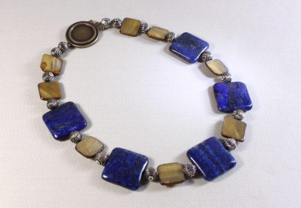 Necklace Square Lapis Lazuli & MoP